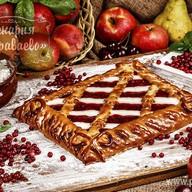 Пирог Творожно-брусничное блаженство Фото