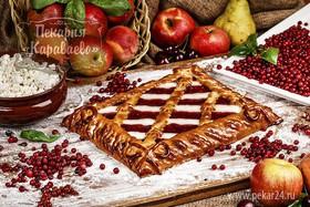Пирог Творожно-брусничное блаженство - Фото