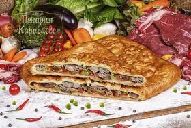 Пирог слоеный с говядиной и овощами - Фото