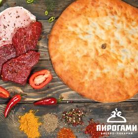 Осетинский пирог со свининой и говядиной - Фото