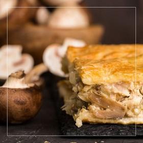 Пирог курино-грибной - Фото
