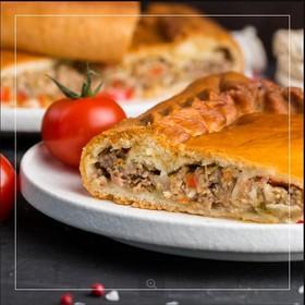 Пирог мясной с овощами - Фото