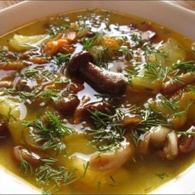 Суп с опятами - Фото