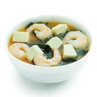 Мисо-суп с тигровыми креветками Фото