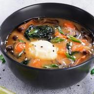 Мисо суп сливочный с лососем Фото