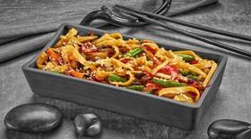 Удон с овощами под соусом терияки - Фото