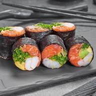 Сашими ролл с лососем и креветкой Фото
