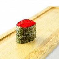 Гункан тобико красная Фото