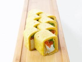 Тортилья с копченым лососем - Фото