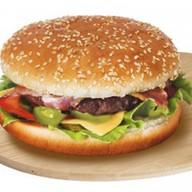 Гамбургер острый Фото