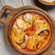 Овощи с сыром сулугуни запеченные в кеци Фото