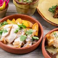 Цыпленок в имбирном соусе с картофелем Фото