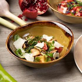 Салат с кабачком-гриль,копчёным сулугуни - Фото