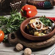 Оджахури с грибами, томатами и солью Фото