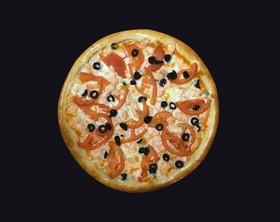 Пицца с лососем (двойная) - Фото