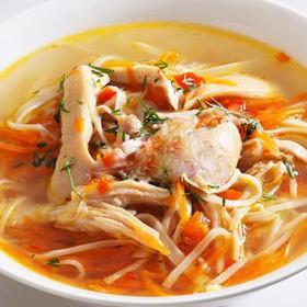 Куриный суп с лапшой - Фото