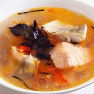 Рыбный суп с семгой Фото