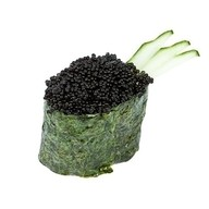 Суши тобико black Фото