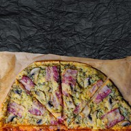 Карбонара пицца Фото