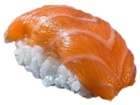 Запеченный гункан с лососем - Фото