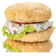 Бургер с копчёной курицей Фото