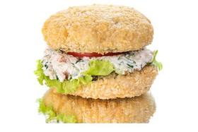 Бургер с копчёной курицей - Фото