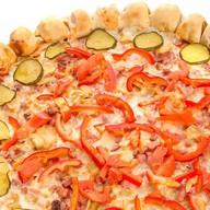 Хот-дог пицца Фото