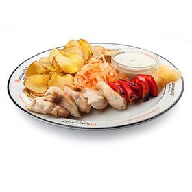 Шашлык из курицы с овощами лайт - Фото