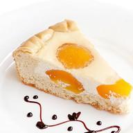 Пирог Творожный с персиками Фото