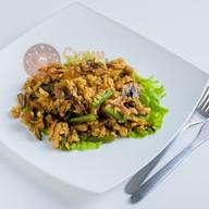 Рис с курочкой, тофу и грибами Фото