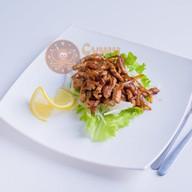 Горячий салат со свининой Фото