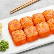 Сырный с лососем запеченный Фото