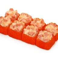 Запеченный сырный с копченым лососем Фото