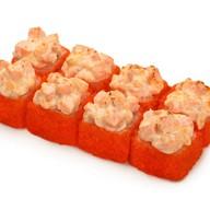Запеченный сырный с лососем Фото