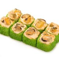 Запеченный сырный с мидиями green Фото