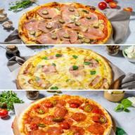 3 пиццы 25 см Фото