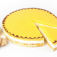 Лимонный десерт муссовый бисквит Фото