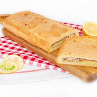 Пирог с картофелем,рыбой сдобно-песочный Фото