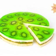 Изумрудный киви десерт муссовый бисквит Фото