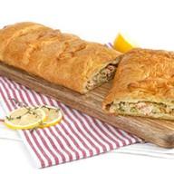 Пирог с горбушей и капустой (слоеный) Фото