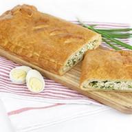 С зеленым луком и яйцом (слоеный) Фото