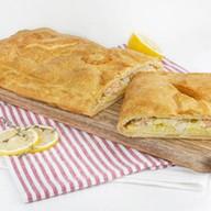 Пирог с семгой и картофелем (слоеный) Фото