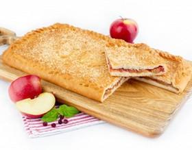 Пирог с яблоками и клюквой (постный) - Фото