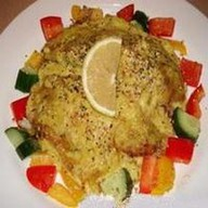 Курица под лимонно-шафрановом соусом Фото