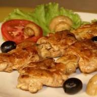 Шашлык из курицы с томатами Фото