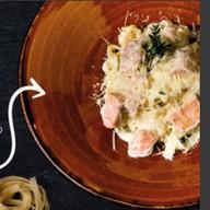 Тальятелле с лососем Фото