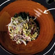 Салат с копченостями Фото