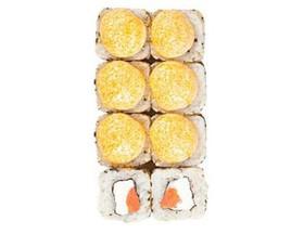 Запеченный с лососем, сливочным сыром - Фото