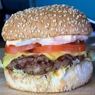 Бургер с соусом тести Фото