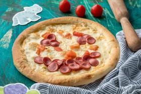 Детская пицца с сосисками - Фото